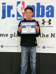 Jaden Peralta from Alto won first in the Junior NBA Skills Challenge for boys 13 and younger.
