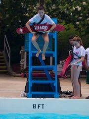Members of the junior lifeguard camp at Sun Splash