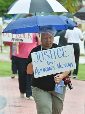 A protest was held to defrock Archbishop Anthony Apuron and cease funding for the Redemptoris Mater Seminary of Guam at the Dulce Nombre de Cathedral Basilica in Hagatna on Sept 18. Protesters have also gathered to support Bill 326-33, which would the lift of statute of limitations for sexually abused children.