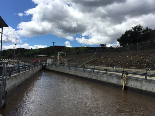 Water from the Ventura River flows into the Casitas