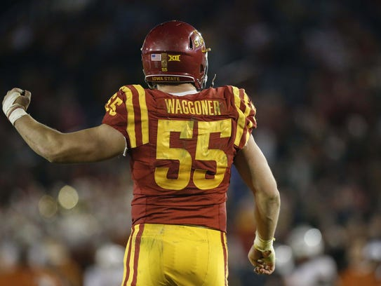 Iowa State defensive end J.D. Waggoner saw his 2016