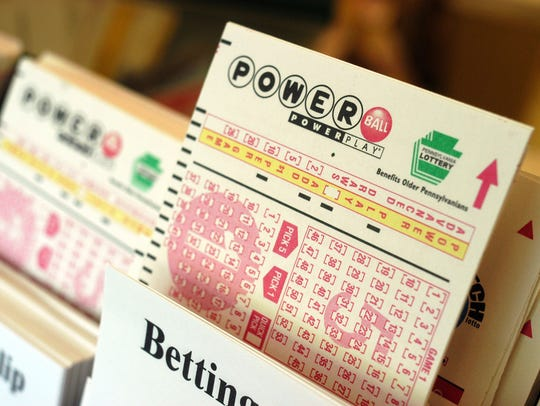 Powerball tickets await players at a convenience store