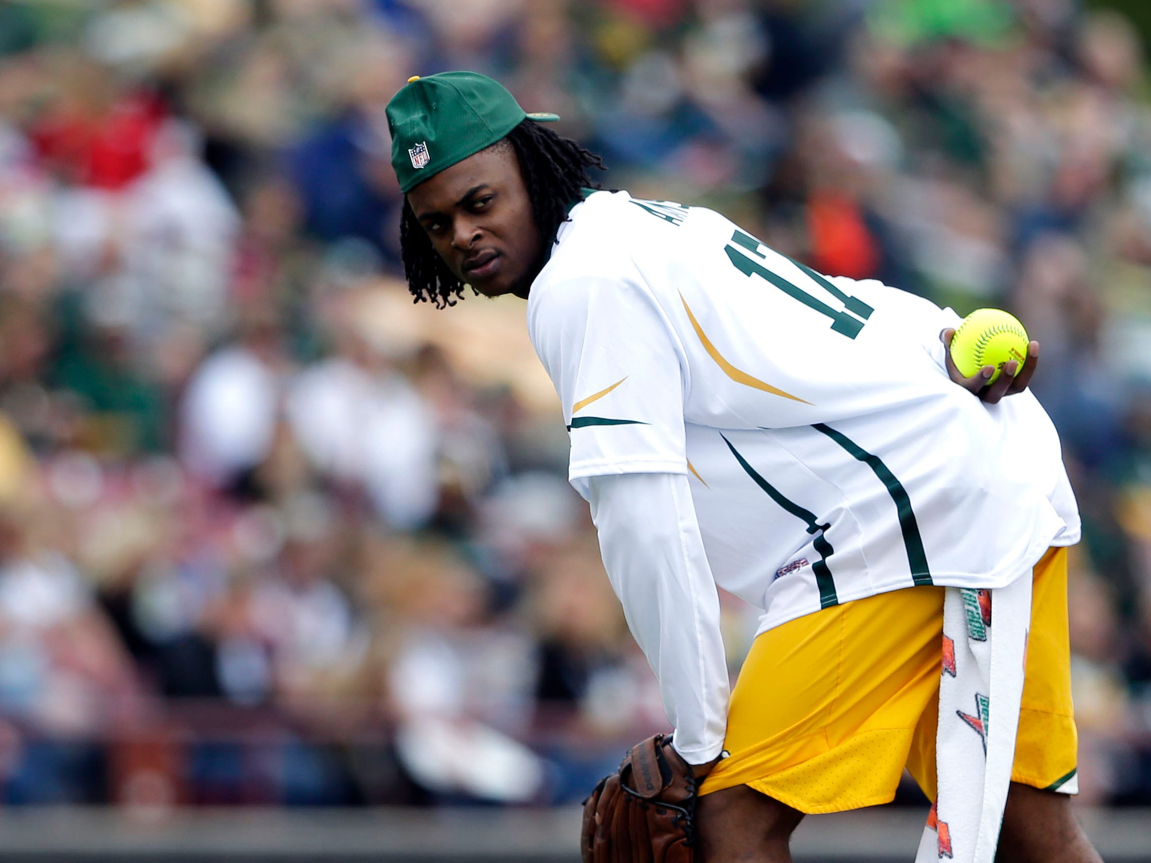 Davante Adams is again the co-host for the Green & Gold Charity Softball Game.