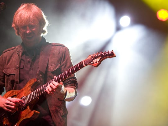 Phish front man Trey Anastasio performs at the Champlain Valley Expo in Essex Junction Wednesday night, September 14, 2011, for a special concert to benefit Tropical Storm Irene flood victims in Vermont.