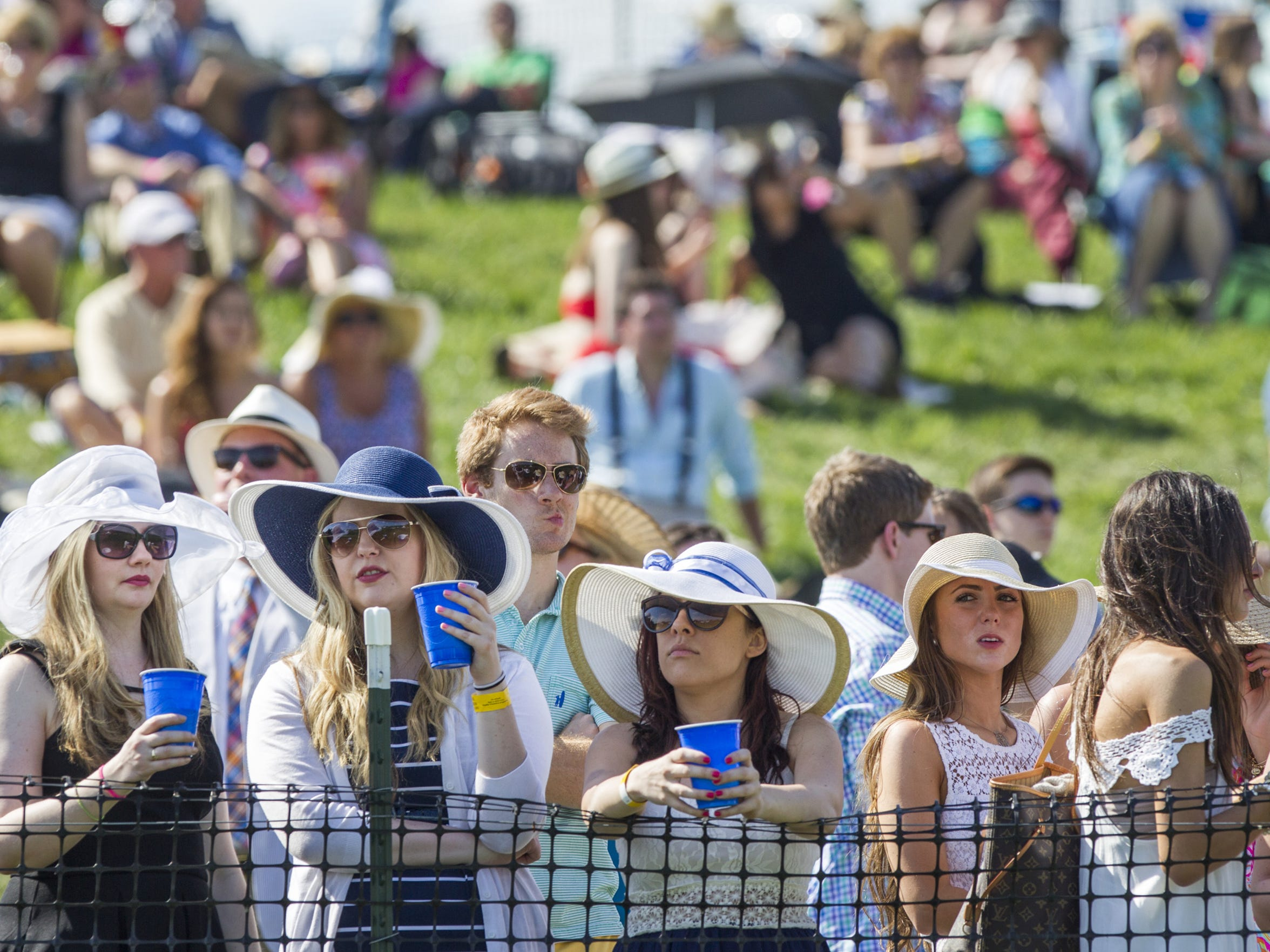 A crowd gathers to watch the horses at Point-to-Point in Winterthur last year.