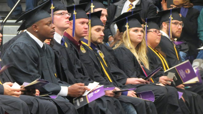 Bethel University graduates listened to Commencement Speaker Dr. Robin Salyers during the school's Fall 2017 graduation exercises held Saturday, Dec. 9.