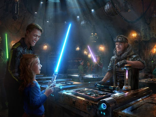 Want to build your own lightsaber? There's a shop at Galaxy's Edge for that.