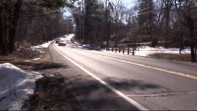 Route 202 in Ramapo, near where bicyclist William 'Matt' George was struck and killed by a car in January.