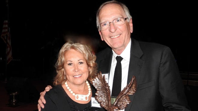 Dr. Mike and Katie Risk were recently honored for their contribution to Scouting and generosity in the Twin Lakes Area.