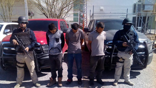 Chihuahua state police arrested a group following a gunfight in the Valley of Juarez in March.
