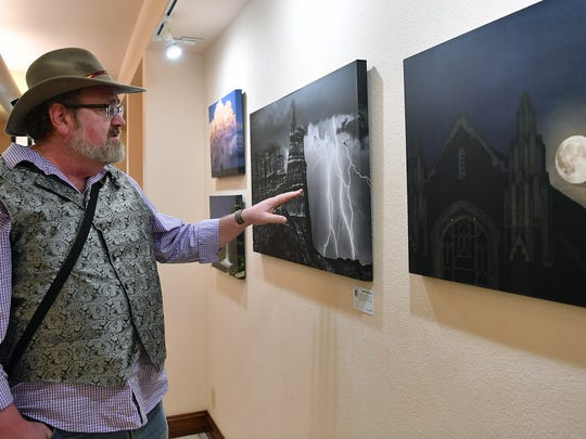 "Former Wichitan Jim Livingston, an Amarillo-based photographer, specializes in night sky and Southwestern landscape images that often include star trails, extreme weather events and expansive vistas. His exhibit, ""The Road Home"", is on display at the Kemp Center for the Arts through March 31."