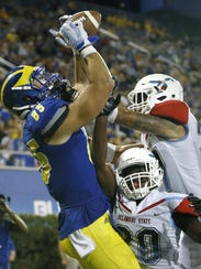 Delaware's Charles Scarff grabs touchdown pass as Delaware