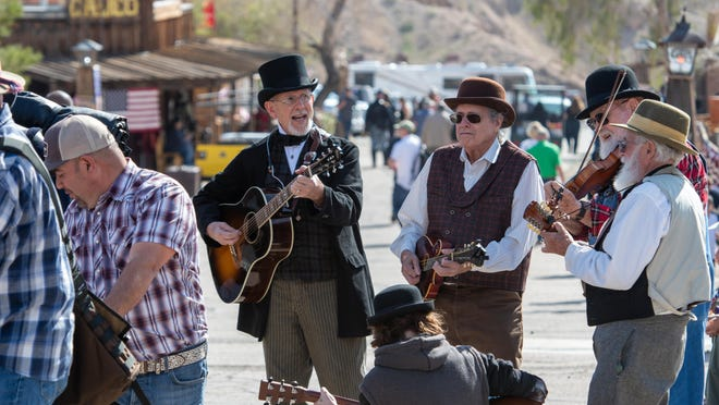 A band plays during Civil War Days in Calico on Feb. 15, 2020. [MARTIN ESTACIO/DAILY PRESS