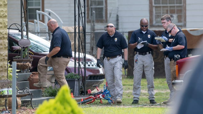 Montgomery Police investigate a fatal shooting on Garden St. in Montgomery, Ala. on Wednesday June 28, 2017.