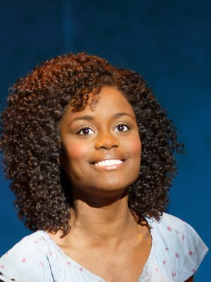 """Denee Benton plays the ingenue Nabulungi in the """"Book of Mormon"""" national tour, opening Tuesday at the Peace Center."""