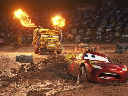 """Before watching """"Cars 3,"""" movie goers can participate in games and get a visit from a balloon twister."""