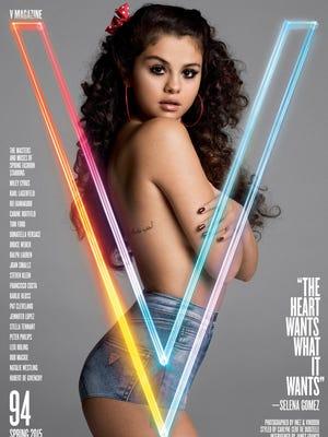"""Selena Gomez poss for """"V"""" Magazine."""