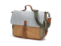 The Perfect Canvas & Wool Messenger Bag