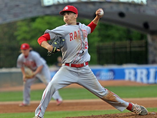 North Rockland's Dan Wirchansky (24) pitches against