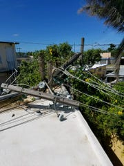 When a crew from RP&L arrived in Puerto Rico, they found there was plenty of work needed to be done.