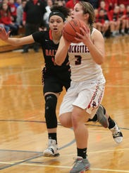 Buckeye Central's Jenna Karl attempts a shot during