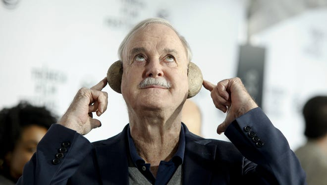 "John Cleese attends a special Tribeca Film Festival screening of ""Monty Python and the Holy Grail"" at the Beacon Theatre on Friday, April 24, 2015, in New York."