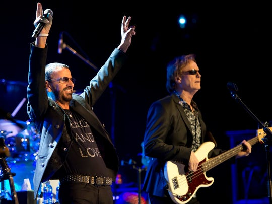 Ringo Starr & His All-Starr Band packed the Sunrise Theatre on February 18, 2015, in Fort Pierce. Joining Starr in the performance were Richard Page (right), Steve Lukather, Todd Rundgren, Gregg Rolie, Gregg Bissonette and Warren Ham. Starr formed the band in 1989 and has featured musicians from bands such as Mr. Mister, Toto, Kansas and Journey. The 1,200-seat theater attracts large numbers of visitors from other cities, counties and states which has a significant economic impact on the community.