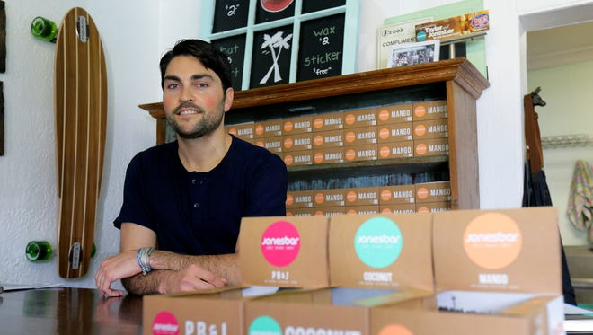 Taylor Jones is founder and owner of Jonesbar, a Sea Girt-based manufacturer of health and energy bars made with fruits, nuts, seeds and other natural ingredients.