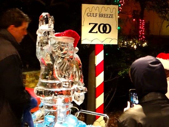 A master craftsman will wield a chainsaw against towering  blocks of solid ice from 6-8 p.m. Tuesday at ZooLights to create beautiful works of zoo-themed  art.