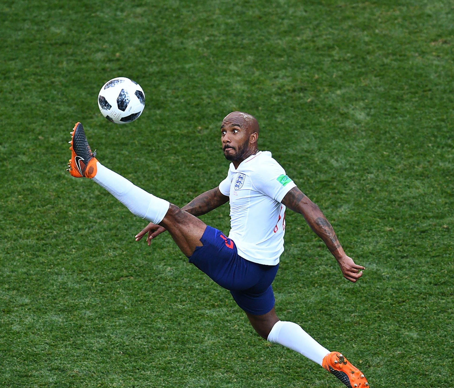 England's Fabian Delph controls the ball against Panama.