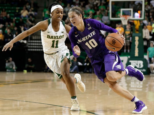 Kansas State guard Kayla Goth played for DeForest. She led the Big 12 with 6.8 assists a game.