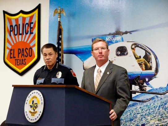 El Police Chief Greg Allen, left, and Carey Matthews,
