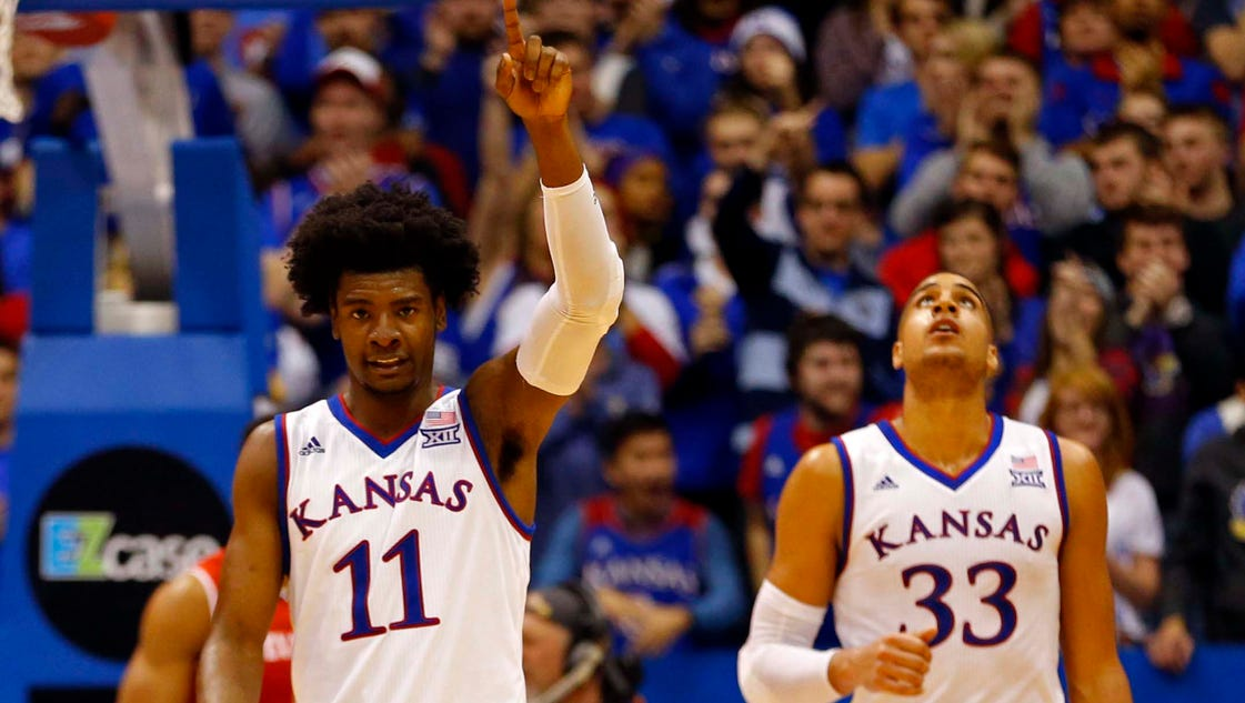 Kansas is new No. 1 as Duke tumbles in new men's college ...