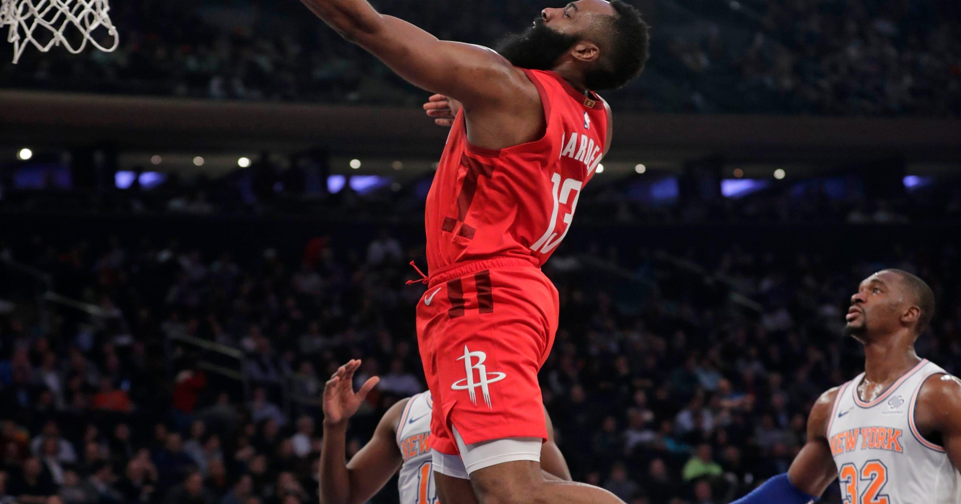 Harden has NBA's 4th-longest streak of 30-point games