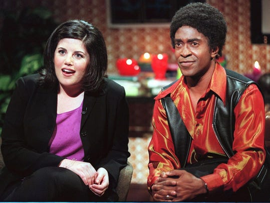 LEWINSKY LEWINSKY ACTS IN SATURDAY NIGHT LIVE SKIT WITH TIM MEADOWS