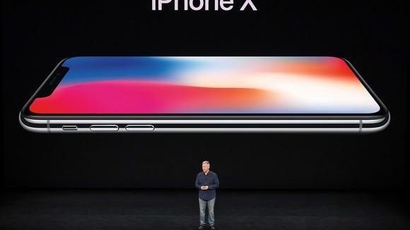 Apple's Phil Schiller shows off iPhone X at Apple's product launch event