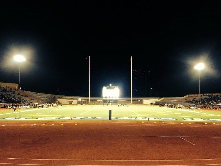 Alamo Stadium during its first season since undergoing renovation.