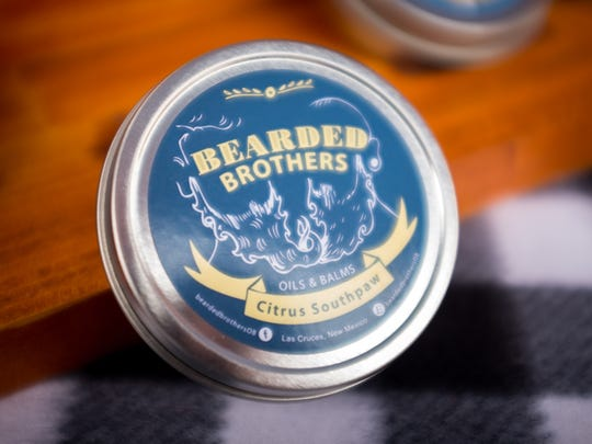 "The ""Citrus Southpaw"" beard balm from the Bearded Brothers, scented with tangerine, lime and lemon-grass."