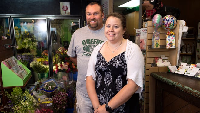 Melissa and Michael Wheelock, owners of Cobble Creek Landscape & Florist in Greene.