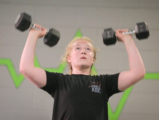 Macey Kilty works out at Limitless Bootcamp in Marshfield