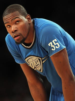 Thunder forward Kevin Durant is having perhaps the best season of his career.