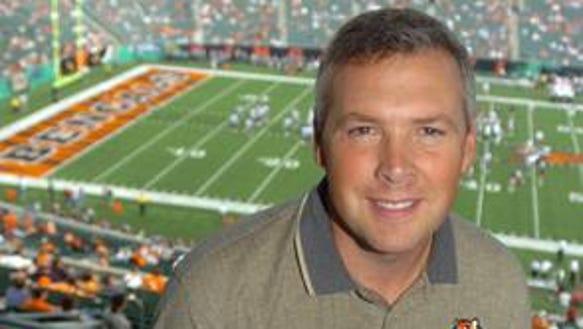 Brad Johansen in booth