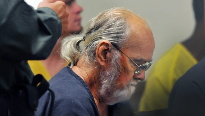 Frank Freshwaters appears at the Brevard County Jail Complex for a court hearing in May 2015.