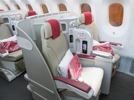 Royal Air Maroc shows off Boeing 787 Dreamliner at Washington Dulles