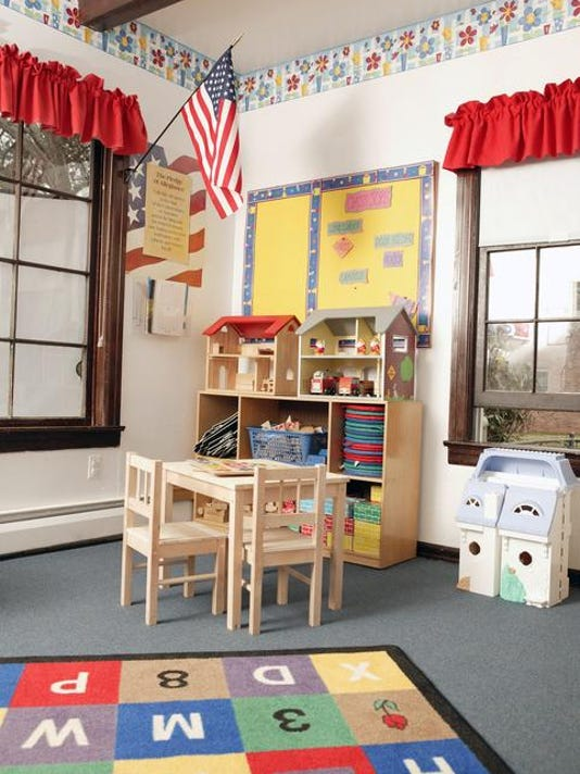 Classroom with toys