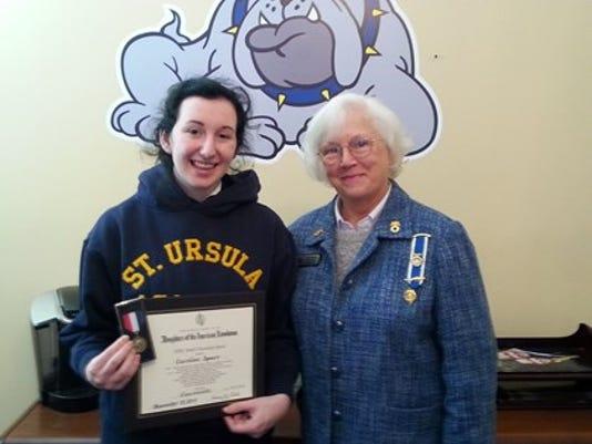 Caroline Spurr DAR Youth Citizenship Medal.jpg