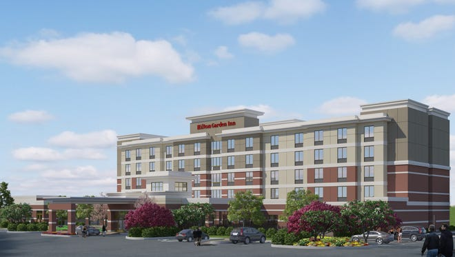 Artist's rendering of the 112 room Hilton Garden Inn on Lakland Drive near Dogwood in Flowood.