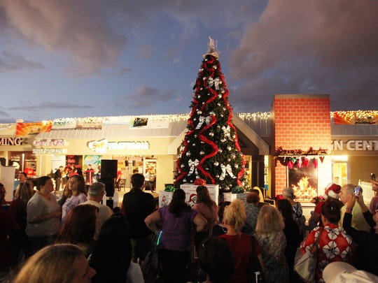 Santa and Mrs. Claus are expected to arrive at the Cape Coral Town Center (Big John's) at 6:15 p.m. to help light the Christmas tree.
