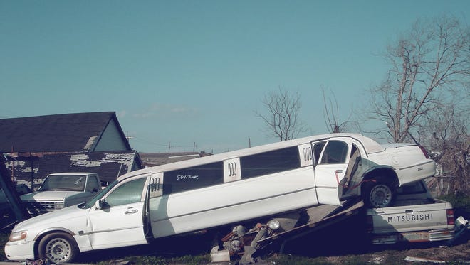 File: A white limo.