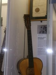 The guitar of the late Huddie William Ledbetter, a